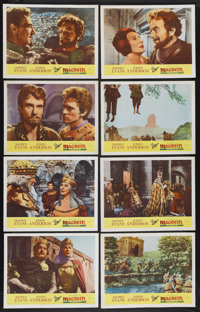 """Macbeth (Prominent Films, 1963). Lobby Card Set of 8 (11"""" X 14""""). Drama. Starring Maurice Evans, Judith Anders..."""