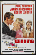 "Movie Posters:Sports, Winning (Universal, 1969). One Sheet (27"" X 41""). Sports Drama. Starring Paul Newman, Joanne Woodward, Robert Wagner and Ric..."