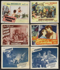 """Movie Posters:Adventure, Jungle Lot (Various, 1941-1953). Lobby Card (11"""" X 14""""). Adventure.Included in this lot are lobby cards for """"Jungle Man"""" (1... (Total:6 Items)"""