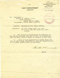 Autographs:U.S. Presidents, Franklin D. Roosevelt: Typed Letter Signed as Acting Secretary ofthe Navy....