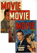 Golden Age (1938-1955):Romance, Movie Love #17, 21, and 22 Group (Famous Funnies, 1952-53)Condition: Average FN/VF.... (Total: 4 Comic Books)