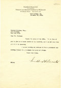 Autographs:U.S. Presidents, Franklin D. Roosevelt: Typed Letter Signed as New YorkGovernor-Elect....