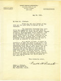 Autographs:U.S. Presidents, Franklin D. Roosevelt: Typed Letter Signed as a Partner in theEmmet, Marvin & Roosevelt Law Firm....