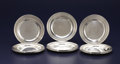 Silver Holloware, American:Plates, A SET OF TWELVE AMERICAN SILVER LUNCHEON PLATES. Dominick &Haff, New York, New York, circa 1900. Marks: (oval-circle-diamon...(Total: 12 Items)