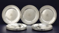 Silver Holloware, American:Plates, A SET OF TWELVE AMERICAN SILVER PLATED CHARGERS. Gorham Manufacturing Co., Providence, Rhode Island, 1928. Marks: GORHAM... (Total: 12 Items)