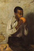 Fine Art - Painting, American:Antique  (Pre 1900), CARL HIRSCHBERG (American, 1854-1923). The Orange, 1891. Oilon canvas. 22 x 15 inches (55.9 x 38.1 cm). Signed and date...