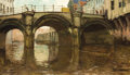 Fine Art - Painting, European:Modern  (1900 1949)  , FRANS SMEERS (Belgian, 1873-1960). View of the Canal. Oil oncanvas. 27-1/2 x 47 inches (69.9 x 119.4 cm). Signed lower ...