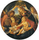 After SANDRO BOTTICELLI (Italian, 1444-1510) Madonna of the Magnificat, 19th Century Oil on canvas 50-1/4 inches (127