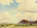 Paintings, ROBERT WOOD (American, 1889-1979). Southwestern Landscape. Oil on canvas. 24 x 32 inches (61.0 x 81.3 cm). Signed lower ...