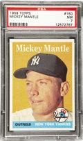Baseball Cards:Singles (1950-1959), 1958 Topps Baseball Mickey Mantle #150 PSA NM 7. One of the more recognizable images of Mantle from the 1950s Topps series. ...