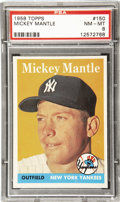 Baseball Cards:Singles (1950-1959), 1958 Topps Baseball Mickey Mantle #150 PSA NM-MT 8. Marvelousphotographic portrait of the Mick in his prime makes the '58 T...