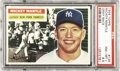 Baseball Cards:Singles (1950-1959), 1956 Topps Baseball Mickey Mantle #135 PSA NM-MT+ 8.5. Less thanone of every 100 1956 Topps #136 Mickey Mantle cards submi...