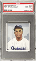 Baseball Cards:Singles (1950-1959), 1950 Bowman Baseball Roy Campanella #75 PSA NM-MT 8. Widelyconsidered to have been one of the greatest catchers in the hist...
