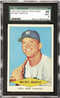 Baseball Cards:Singles (1950-1959), 1954 Red Heart Dog Food Baseball Mickey Mantle SGC 96 Mint 9.Issued in three 11-card series via a mail-in offer, the Red He...