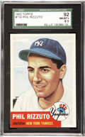 Baseball Cards:Singles (1950-1959), 1953 Topps Baseball Phil Rizzuto #114 SGC 92 NM/MT+ 8.5. The only92 NM/MT+ 8.5 1953 Topps Phil Rizzuto of the 63 submitted ...
