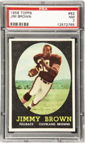 Football Cards:Singles (1950-1959), 1958 Topps Jim Brown #62 PSA NM 7. The foundation upon which any serious football collection should be built; the Jim Brown ...
