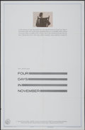 "Movie Posters:Documentary, Four Days in November (United Artists, 1964). One Sheet (27"" X 41""). Documentary...."