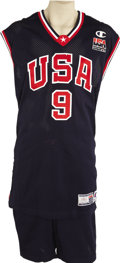 Basketball Collectibles:Uniforms, 2000 Vince Carter Summer Olympics Game Worn Uniform. Just two yearsremoved from the Carolina Tarheel hardcourt at the time ...