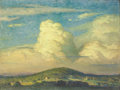 Fine Art - Painting, American:Modern  (1900 1949)  , GEORGE WILLIAM SOTTER (American, 1879-1953). Giants in theSky, 1930. Oil on canvasboard. 12 x 16 inches (30.5 x 40.6cm...