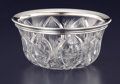Silver Holloware, American:Bowls, AN AMERICAN SILVER AND CUT GLASS BOWL. Gorham Manufacturing Co., Providence, Rhode Island, 1913. Marks: (lion-anchor-G), S...