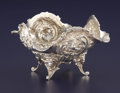 Silver Holloware, Continental:Holloware, A DUTCH SILVER BOWL. Unknown maker, circa 1900. Marks: (lionpassant over 2), R. 3-1/2 high x 5 x 5 inches diameter(8.9...