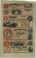 Obsoletes By State:Michigan, Detroit, MI- The State Bank of Michigan $1-$2-$3-$5 18__ G2a-G4a-G6a-G8a Uncut Sheet. ...