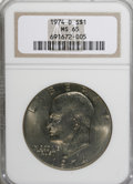 Eisenhower Dollars: , 1974-D $1 MS65 NGC. NGC Census: (992/243). PCGS Population (1053/363). Mintage: 45,517,000. Numismedia Wsl. Price for NGC/P...