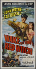"Movie Posters:Adventure, Wake of the Red Witch (Republic, 1949). Three Sheet (41"" X 81"").Adventure...."