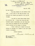 Autographs:U.S. Presidents, Franklin D. Roosevelt: Typed Letter Signed as Assistant Secretaryof the Navy....