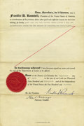 Autographs:U.S. Presidents, Franklin D. Roosevelt: Pardon Document Signed as President....(Total: 2 Items)