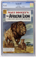Silver Age (1956-1969):Miscellaneous, Four Color #665 The African Lion (Dell, 1955) CGC NM 9.4 Whitepages....