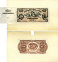Large Size:Demand Notes, Hawaiian Islands $20 (1879) Pick 2p Face and Back Proof. ...(Total: 2 notes)