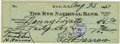 Autographs:Checks, 1957 Ed Barrow Signed Check. Perhaps the single executive that hadthe most influence on the overall arc of talent and powe...