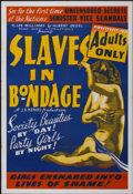 "Movie Posters:Crime, Slaves in Bondage (Roadshow Attractions, 1937). One Sheet (28"" X41""). Crime...."