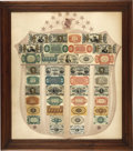Fractional Currency:Shield, Fractional Currency Shield, With Pink Background....