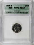 Proof Roosevelt Dimes: , 1975-S 10C PR70 Deep Cameo ICG. PCGS Population (15/0). NumismediaWsl. Price for NGC/PCGS coin in PR70...