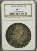 Chile, Chile: Charles IV 8 Reales 1801 So-AJ VF35 NGC,...