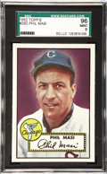Baseball Cards:Singles (1950-1959), 1952 Topps Baseball Phil Masi #283 SGC 96 Mint 9. Of the total8,342 1952 Topps baseball cards submitted to SGC, only 60 hav...