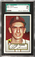Baseball Cards:Singles (1950-1959), 1952 Topps Baseball Cliff Fannin #285 SGC 96 Mint 9. Another in theparade of SGC-graded 96 Mint 9 1952 Topps cards. Cliff ...