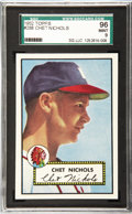 Baseball Cards:Singles (1950-1959), 1952 Topps Baseball Chet Nichols #288 SGC 96 Mint 9. Of a combined257 SGC and PSA graded examples, only five 1952 Topps Che...