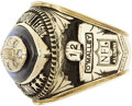 Football Collectibles:Others, National Football League Alumni Ring. Impressive for both its aesthetics and for the brotherhood it denotes, the offered ri...