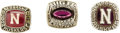 Football Collectibles:Others, 1978-85 University of Nebraska Football Championship Rings Lot of 3. Collection of three rings was awarded to a Cornhuskers...