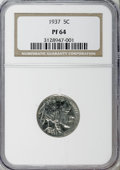 Proof Buffalo Nickels: , 1937 5C PR64 NGC. NGC Census: (193/1133). PCGS Population(382/1690). Mintage: 5,769. Numismedia Wsl. Price for NGC/PCGSco...