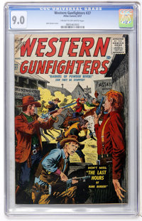 Western Gunfighters #27 (Atlas, 1957) CGC VF/NM 9.0 Cream to off-white pages