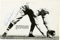 """Autographs:Photos, Travis Jackson Signed Photograph. The Giants' great has applied amarvelous Hall of Fame signature to the 5x8"""" photo presen..."""