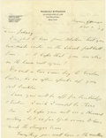 "Autographs:U.S. Presidents, Franklin D. Roosevelt: Autograph Letter Signed ""Your DevotedFather.""..."