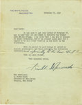 Autographs:U.S. Presidents, Franklin D. Roosevelt: Typed Letter Signed as President withHolographic Addition....