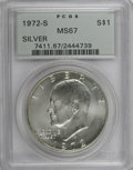 Eisenhower Dollars: , 1972-S $1 Silver MS67 PCGS. PCGS Population (4488/1334). NGC Census: (706/317). Mintage: 2,193,056. Numismedia Wsl. Price f...