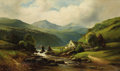 Fine Art - Painting, European:Antique  (Pre 1900), J. BOWERS (Continental, 19th Century). Watermill in aLandscape. Oil on canvas. 30 x 50 inches (76.2 x 127 cm).Signed l...