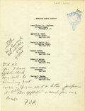 Autographs:U.S. Presidents, Franklin D. Roosevelt: Typed Document with Holographic Annotations by FDR as a Partner in the Roosevelt & O'Connor Law Firm....